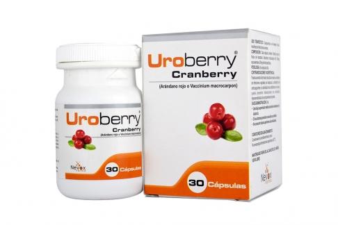 Uroberry Arandano Rojo Caja Con Frasco Con 30 Cápsulas