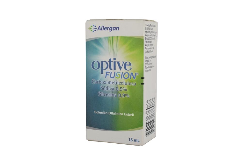 Optive Fusion Solución Oftálmica Caja Con Frasco Con 15 mL