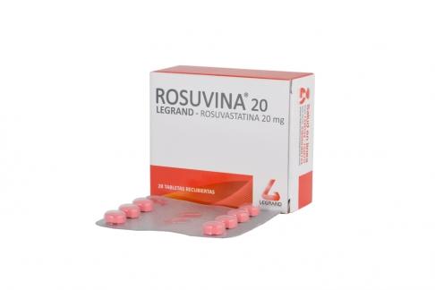 Rosuvina Legrand 20 mg Caja Con 28 Tabletas Recubiertas Rx
