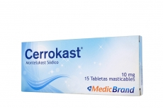 Cerrokast 10 mg Caja Con 15 Tabletas Masticables Rx4