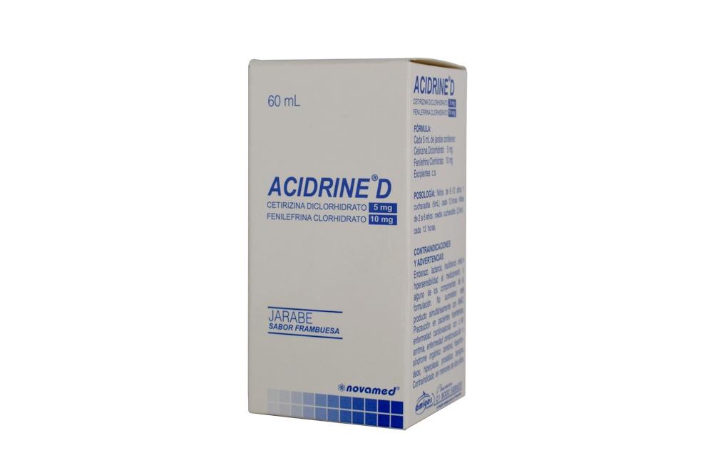 Acidrine D 5 mg Jarabe Caja Con Frasco Con 60 mL Rx