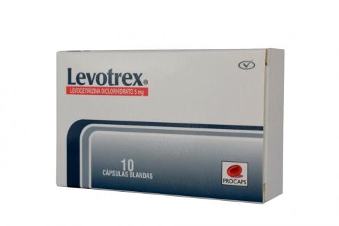 Levotrex 5 mg Caja Con 10 Cápsulas Blandas Rx