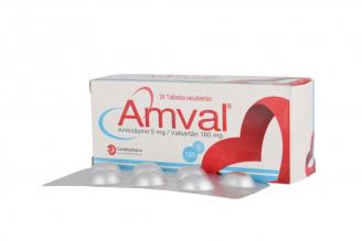 Amval 5 / 160 mg Caja Con 28 Tabletas Rx