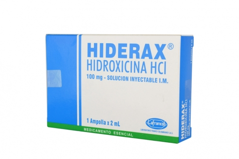 Hiderax 100 mg Caja Con 1 Ampolla por 2 mL Rx