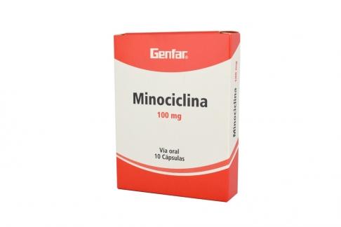 Minociclina 100 mg Caja X 10 Cápsulas Rx2