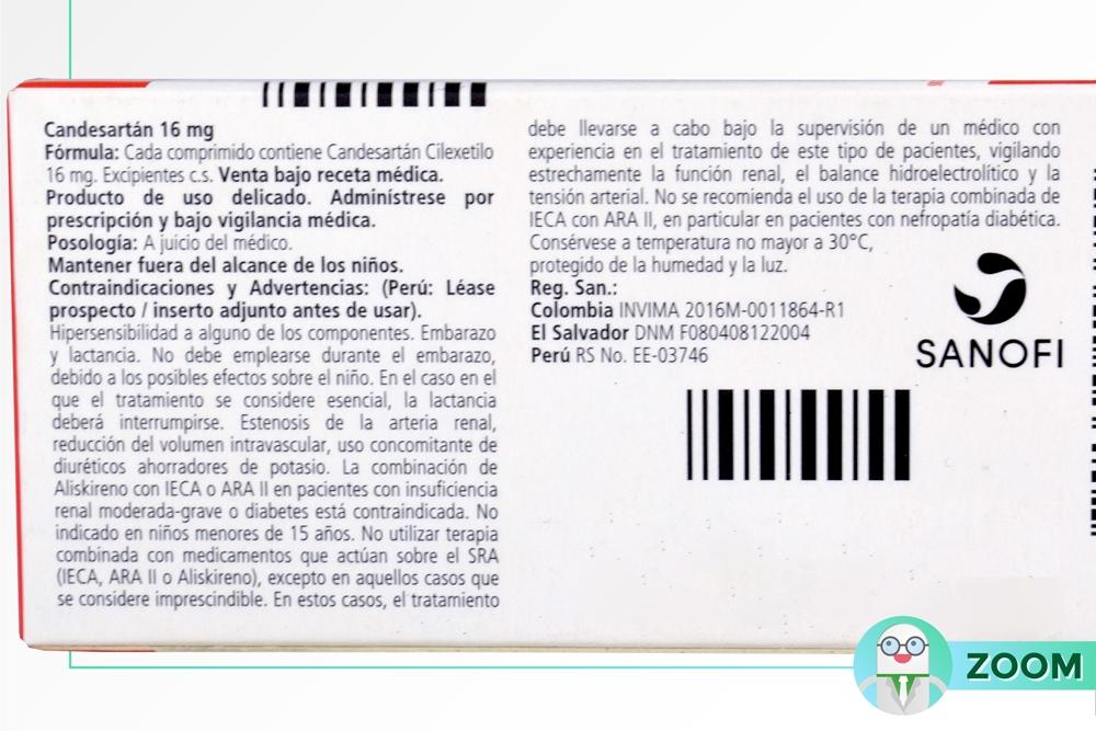 Comprar Candesartan 16 Mg Caja 14 Tabletas En Farmalisto