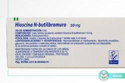 Hioscina N-Butilbromuro 10 mg Caja Con 100 Tabletas Recubiertas RX