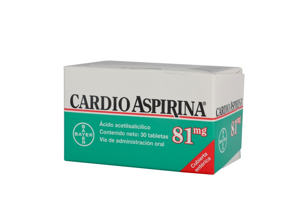 Cardio Aspirina 81 mg  Caja Con 30 Tabletas Con Cubierta Entérica Rx