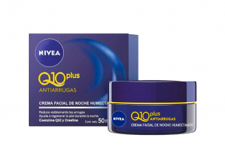 Nivea Q10 Plus Crema Facial De Noche Caja Con Tarro Con 50 mL