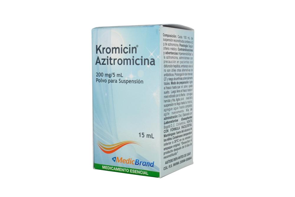 Kromicin Polvo Para Suspensión 200 mg / 5 mL Caja Con Frasco Con 15 mL Rx2