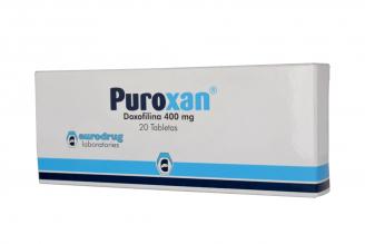 Puroxan 400 mg Caja Con 20 Tabletas RX