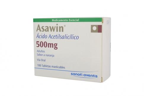 Asawin 500 mg Caja Con 100 Tabletas Masticables