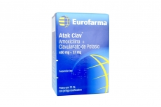 Atak Clav 400 / 57 mg Caja Con Frasco Con 70 mL Con Jeringa Dosificadora Rx2