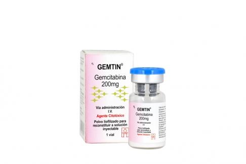 Gemtin 200 mg Caja Con Vial Rx4