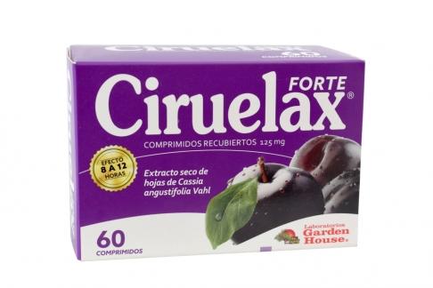 Ciruelax Forte 125 mg Caja Con 60 Comprimidos – Hojas De Cassia