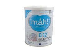 Máh First Love Sin Lactosa 0 a 12 Meses Tarro Con 400 g