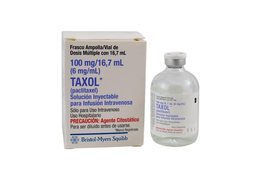 Taxol 100 mg Caja Con Un Vial Tipo I Solución Inyectable Rx4