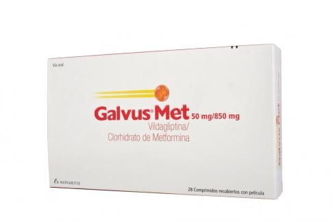 Galvus Met 50 mg / 850 mg Caja Con 28 Comprimidos Recubiertos Rx4