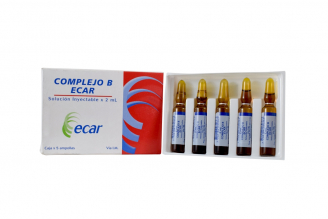 Complejo B Solución Inyectable Caja Con 5 Ampollas Con 2 mL C/U Rx