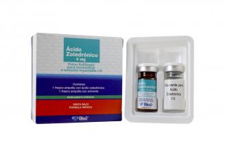 Ácido Zoledrónico 4 mg Polvo Para Solución Inyectable Caja Con Frasco Ámpula 5 mL Rx4