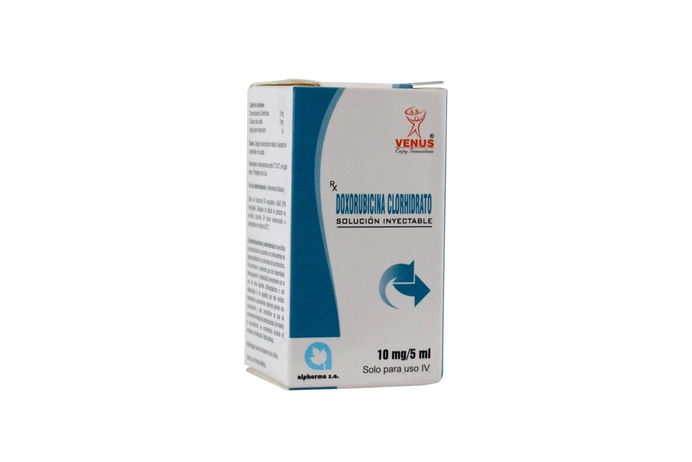 Doxorubicina 10 mg Caja Con 1 Vial Solución Inyectable Rx3 Rx4