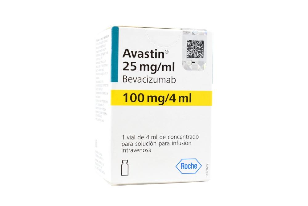 Avastin 100 mg Concentrado Para Solución Para Infusión Vial 4 ml  Rx1 Rx3