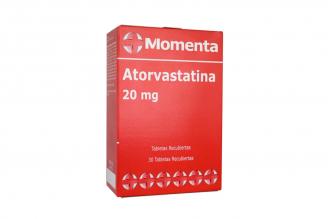 Atorvastatina 20 mg Caja Con 30 Tabletas Recubiertas Rx4