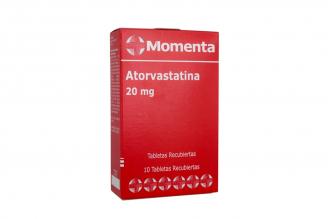 Atorvastatina Momenta 20 mg Caja Con 10 Tabletas Recubiertas Rx4
