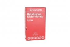 Betahistina Clorhidrato 16 mg Caja Con 30 Tabletas Rx