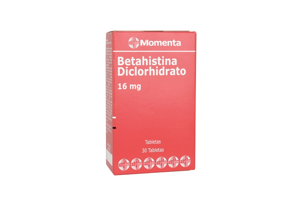 Betahistina Diclorhidrato 16 mg Caja Con 30 Tabletas Rx