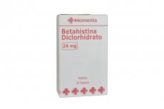 Betahistina Clorhidrato 24 mg Caja Con 30 Tabletas Rx
