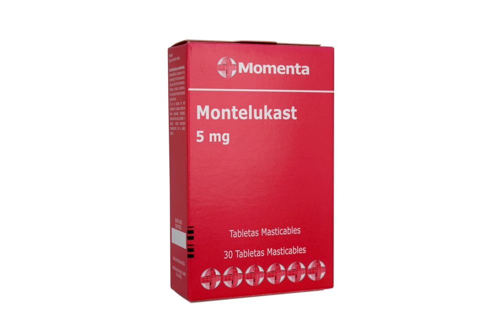 Montelukast 5 mg Con 30 Tabletas Masticables Rx4