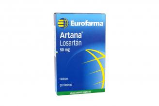 Artana 50 mg Caja Con 30 Tabletas Rx4