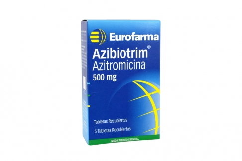 Azibiotrim 500 mg Caja Con 5 Tabletas Recubiertas