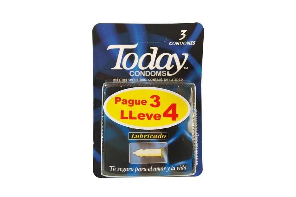 Preservativo Today Lubricado Pague 3 Lleve 4 unidades