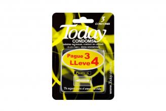 Preservativo Today Punto G Pague 3 Lleve 4 unidades