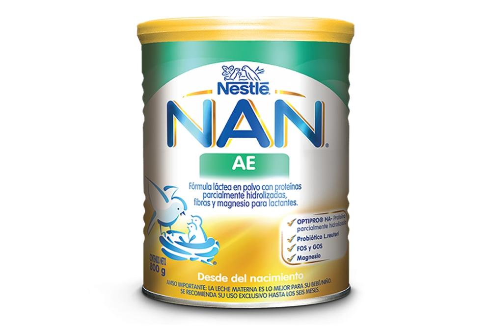 NAN AE Formula Láctea En Polvo Tarro Con 800 g