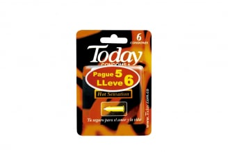 Condones Today Hot Sensation Empaque Con 6 Unidades