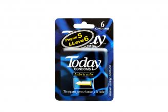 Condones Today Lubricado Empaque Con 6 Unidades
