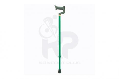 Bastón Con Empuñadura En J Konfort Plus - Color Verde Oscuro