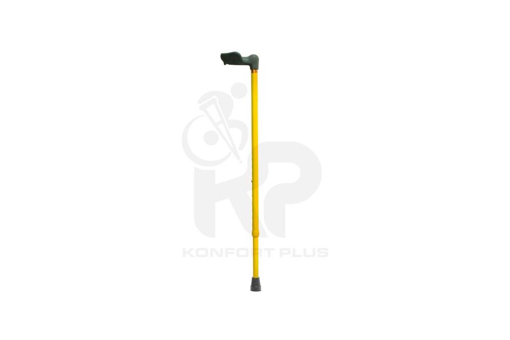 Bastón Con Empuñadura Ergonómica Izquierda Konfort Plus - Color Amarillo
