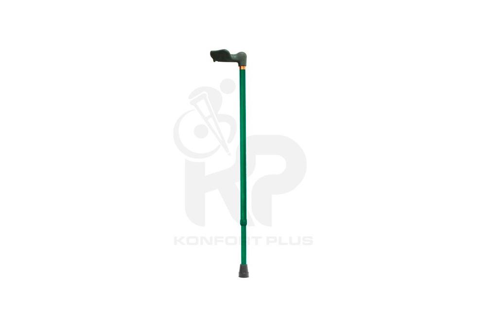 Bastón Con Empuñadura Ergonómica Izquierda Konfort Plus - Color Verde Oscuro