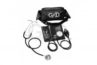Kit de Tensiómetro y Fonendoscopio GMD Doble Campana - Negro