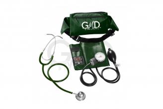 Kit de Tensiómetro y Fonendoscopio GMD Doble Campana - Verde