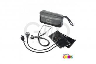 Kit Fusión Tensiómetro Y Fonendoscopio Rappaport GMD Con Estuche - Negro