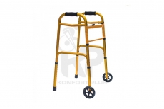 """Caminador con Ruedas de 5"""" en Aluminio Anodizado - Amarillo"""