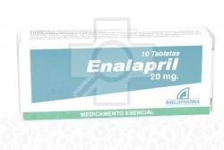 ENALAPRIL 20 MG X 10 TABLETAS Rx