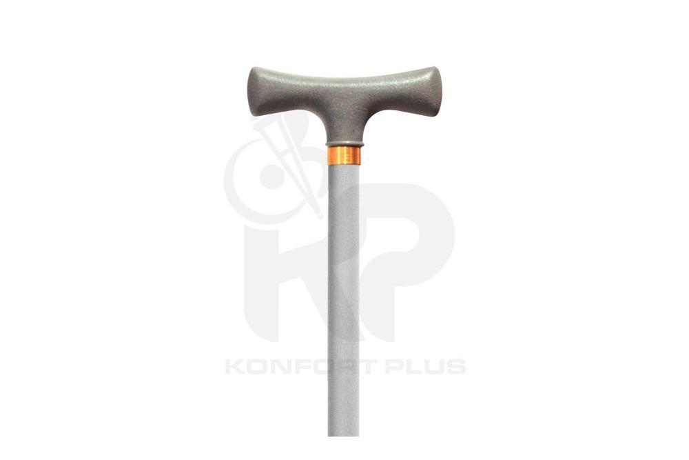 Bastón Con Empuñadura en T Konfort Plus- Color Plata
