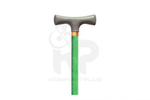 Bastón Con Empuñadura En T Konfort Plus - Color Verde Claro