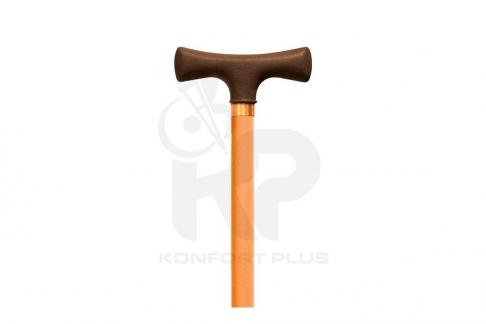 Bastón Con Empuñadura En T Konfort Plus - Color Naranja